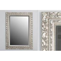 Silver mirror outer size: 81x3x111,5 cm