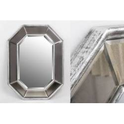 Antique silver resin mirror 126x96x5,1 cm