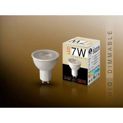 Bomb.led dimable 3000k 7w gu10