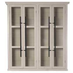Mueble vitrina madera color blanco (parte superior)