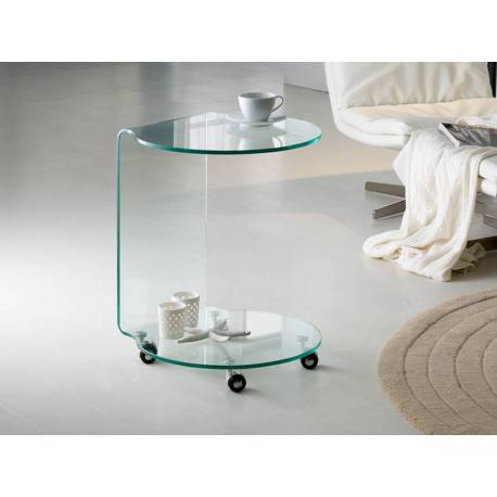 Mesa aux.Glass redonda