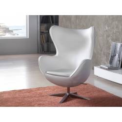 SILLON EGG BLANCO ECOPIEL