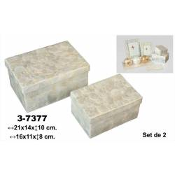 Set 2 cajas rectangular nacar